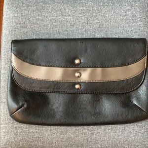 Candies Black and Silver Clutch